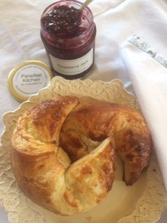 jam and croissants